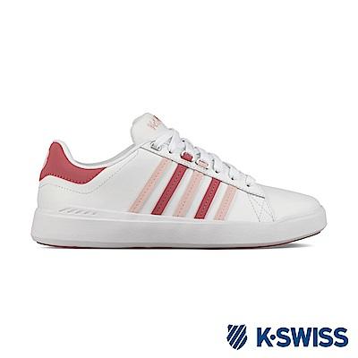 K-Swiss Pershing Court Light休閒運動鞋-女-白/粉