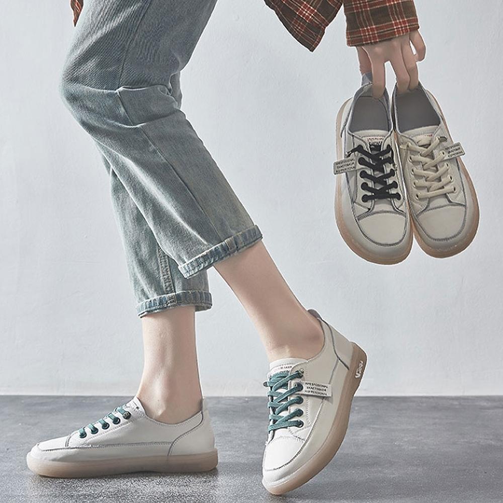 LN 現+預 牛筋軟底小白鞋-3色 (白黑)