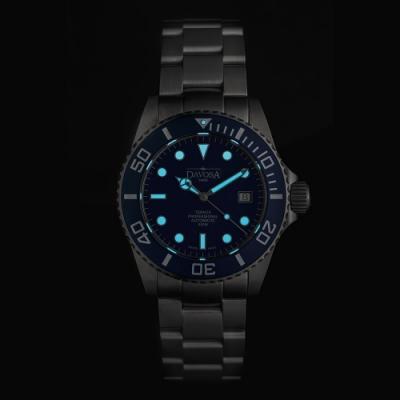 DAVOSA 161.582.45 TERNOS PROFESSIONAL 500M自動排氦氣專業潛水錶/限量500只/不鏽鋼帶/湛藍色/42mm