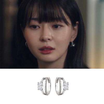 梨花HaNA 韓國925銀梨泰院CLASS權娜拉華麗鑽石戒指耳環