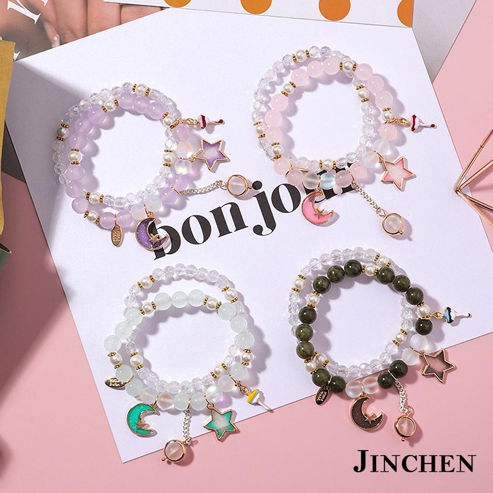 JINCHEN 韓版合金水晶手鍊