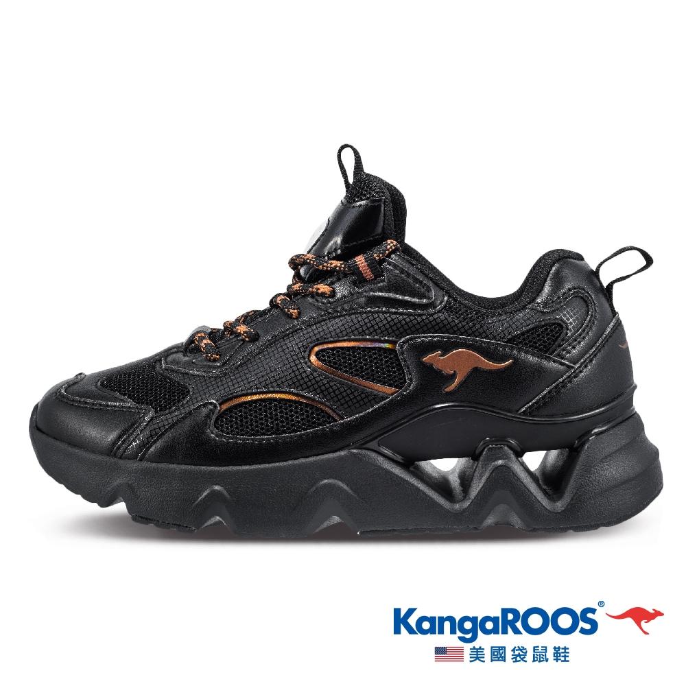 KangaROOS 女 MELODY 律動2.0 老爹鞋(黑-KW11930)
