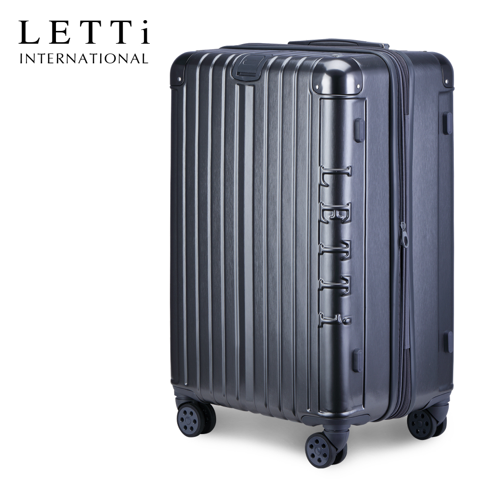LETTi 紳士密令  26吋PC拉絲可加大行李箱(內斂灰)