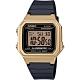 CASIO 復古方形數位電子腕錶-金x黑(W-217HM-9A)/34mm product thumbnail 1