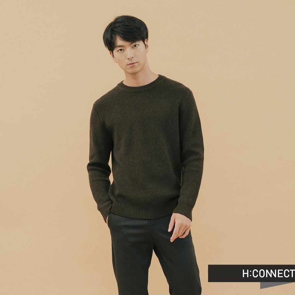 H:CONNECT 韓國品牌 男裝-修身羅紋針織上衣-紅(快)