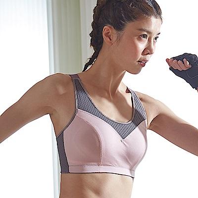 蕾黛絲-LadieSport好運動-Level4-吸震背心CE罩杯內衣 活力粉