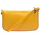 LV M40824經典EPI水波紋皮革POCHETTE肩背/手拿晚宴包(亮黃色)