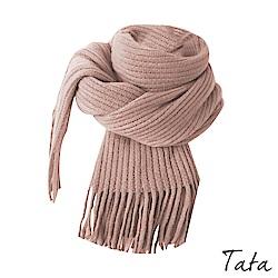 坑條下擺鬚鬚圍巾 共四色 TATA