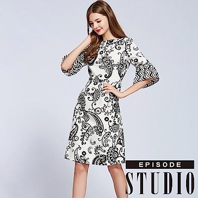 EPISODE Studio - 變形圖騰幾何設計洋裝