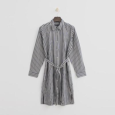 Hang Ten - 女裝 - 氣質綁帶襯衫-灰色