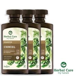 波蘭Herbal Care 啤酒花護色植萃調理洗髮露(修護去屑)330ml(3瓶組)