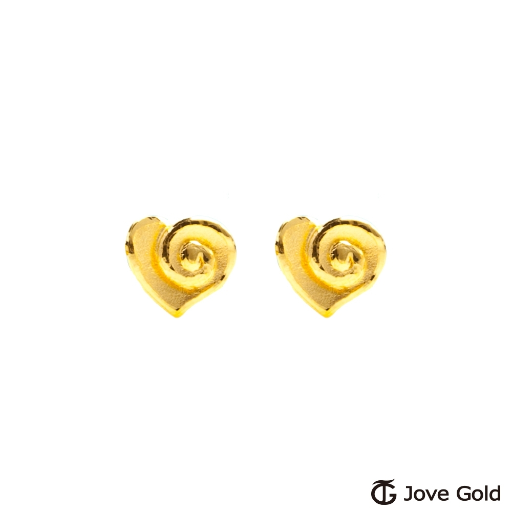 Jove Gold 漾金飾 親密黃金耳環