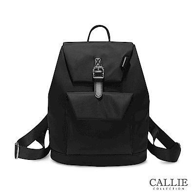 CALLIE 簡約休閒尼龍後背包 Annone 黑