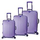 DF travel - 升級版描繪足跡環遊全球硬殼行李箱三件組-共4色