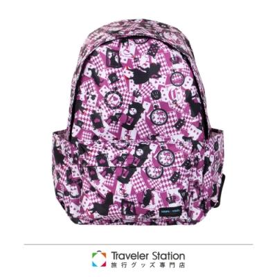 【HAPI+TAS】新型折疊後背包─新版粉色愛麗絲