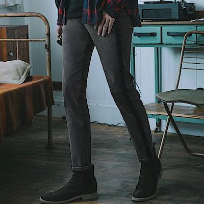 側邊織條設計水洗牛仔長褲-OB嚴選