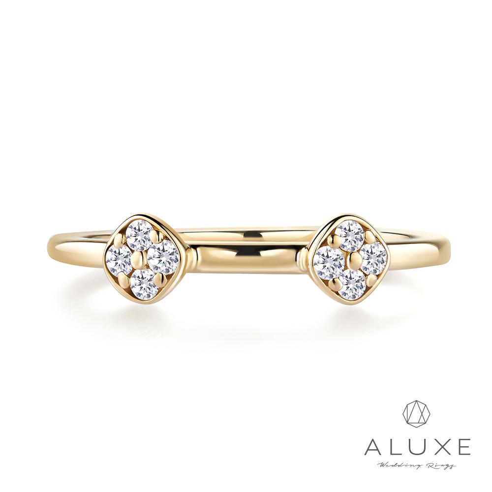 ALUXE 亞立詩 18K金玩美鑽石造型線戒