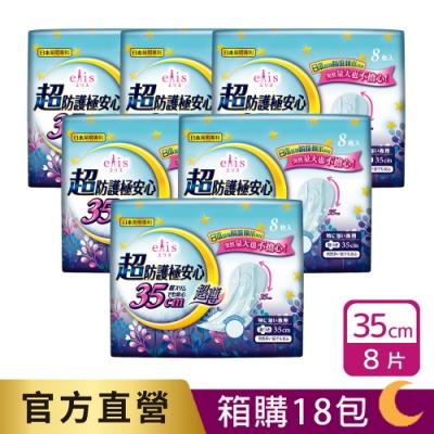 [滿199折20] 日本大王elis 愛麗思超防護極安心日用超薄衛生棉 35cm(8片/包) 箱購18包