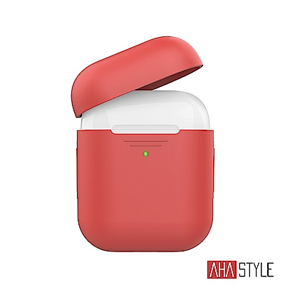 AHAStyle AirPods 1&2代矽膠保護套-紅色 1.4mm超薄款