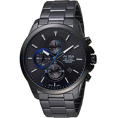 ALBA雅柏街頭潮流計時腕錶(AM3661X1)-黑