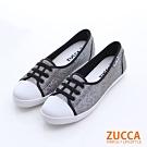 ZUCCA-抽繩帆布面休閒鞋-黑-z6508bk