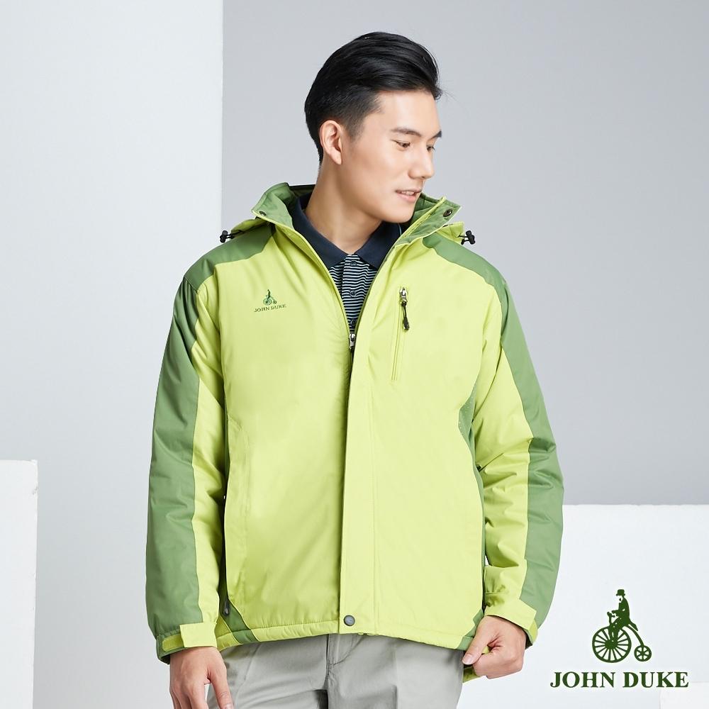 JOHN DUKE約翰公爵 休閒保暖鋪棉外套_芥綠/黃(32-8K5273)