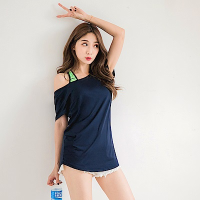台灣製造~Scafe冰咖啡紗抗UV涼感後背微縷空上衣-OB大尺碼