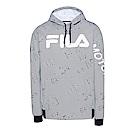 FILA 男款吸濕排汗連帽T恤-白 1TES-5452-WT