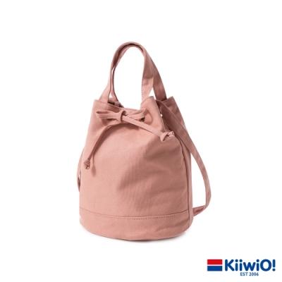 Kiiwi O! 日系百搭系列帆布水桶包 UMA 乾燥玫瑰粉