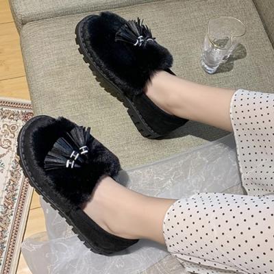 KEITH-WILL時尚鞋館-視覺個性絨毛娃娃鞋-黑色