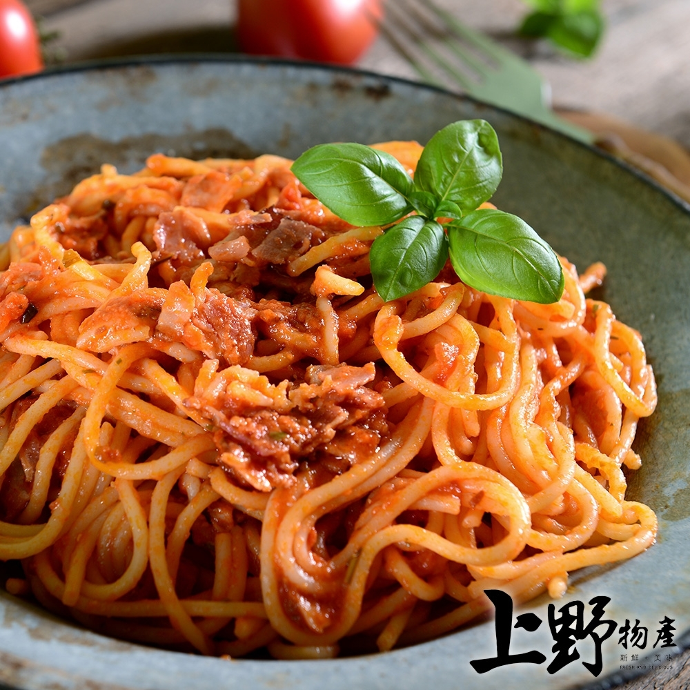 【上野物產】米蘭名店味 黑胡椒醬佐義式圓麵(麵體+醬料包 310g土10%/包) x12包