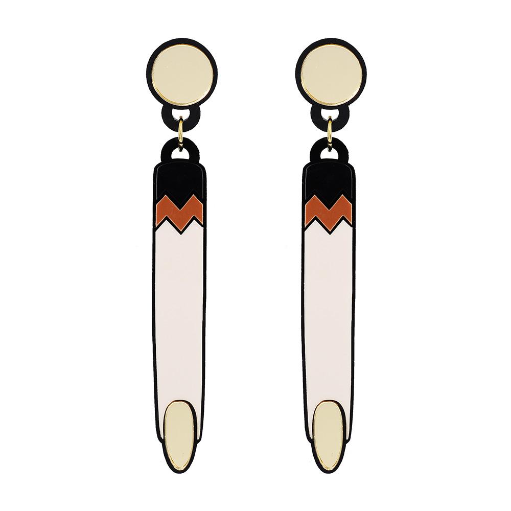 Yazbukey法國品牌 金色手指垂墜夾式耳環