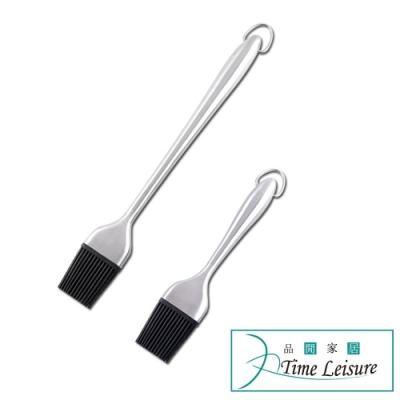 Time Leisure 燒烤專用 可掛可拆式不鏽鋼手柄醬料油刷大小套組