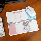 歐士OSHI Lpad 收心滑鼠墊 - 週計畫(粉)