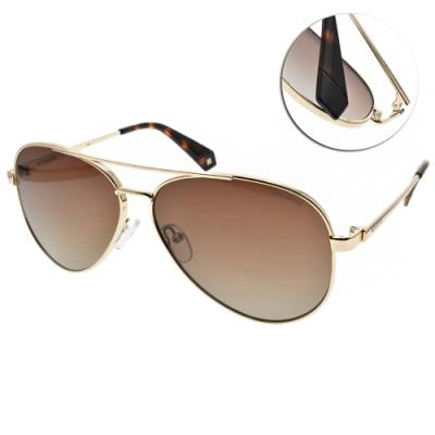 Polaroid 偏光太陽眼鏡 個性飛行款/金-漸層棕 #PLD6069SX J5GLA