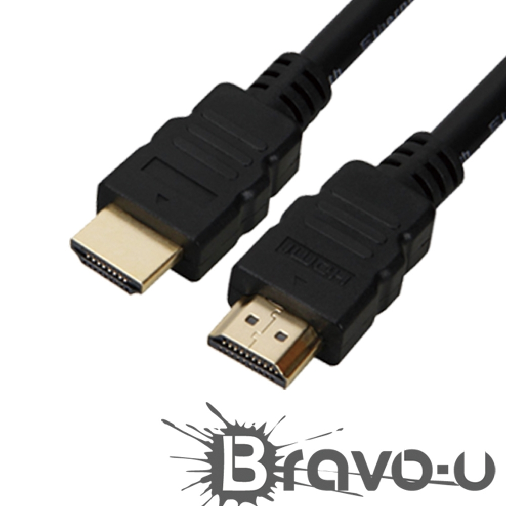 Bravo-u HDMI to HDMI 1.4b 影音傳輸線 1.8M(2入)