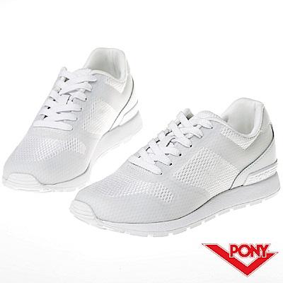 【PONY】SOLA 系列-粉彩系列復古休閒鞋-女-白