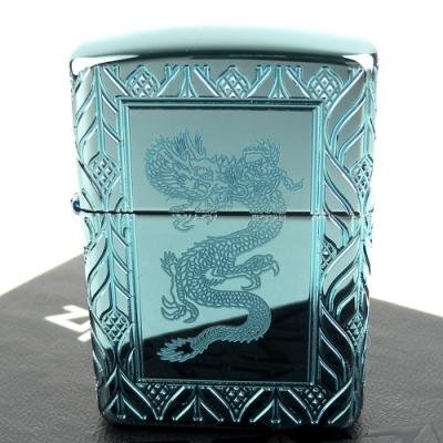 ZIPPO 美系~Elegant Dragon-優雅中國龍圖案設計打火機(ARMOR裝甲)