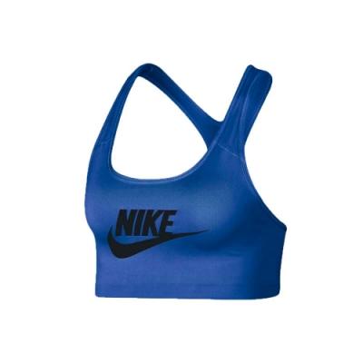 NIKE 女運動內衣-緊身上衣 運動背心 慢跑 路跑 健身 瑜珈 有氧 韻律 藍黑