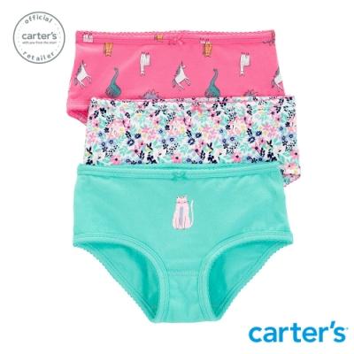Carter s台灣總代理 貓咪花園3件組三角褲