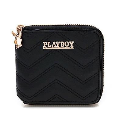 PLAYBOY- ㄇ拉短夾  香榭大道系列-個性黑