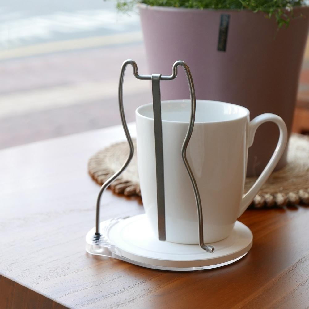 歐士OSHI 轉杯架 (貓) 附贈馬克杯/吸水杯墊/不鏽鋼杯架/攪拌棒
