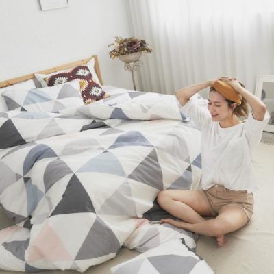 BUHO 天然嚴選純棉雙人加大四件式兩用被床包組(天空之鏡)