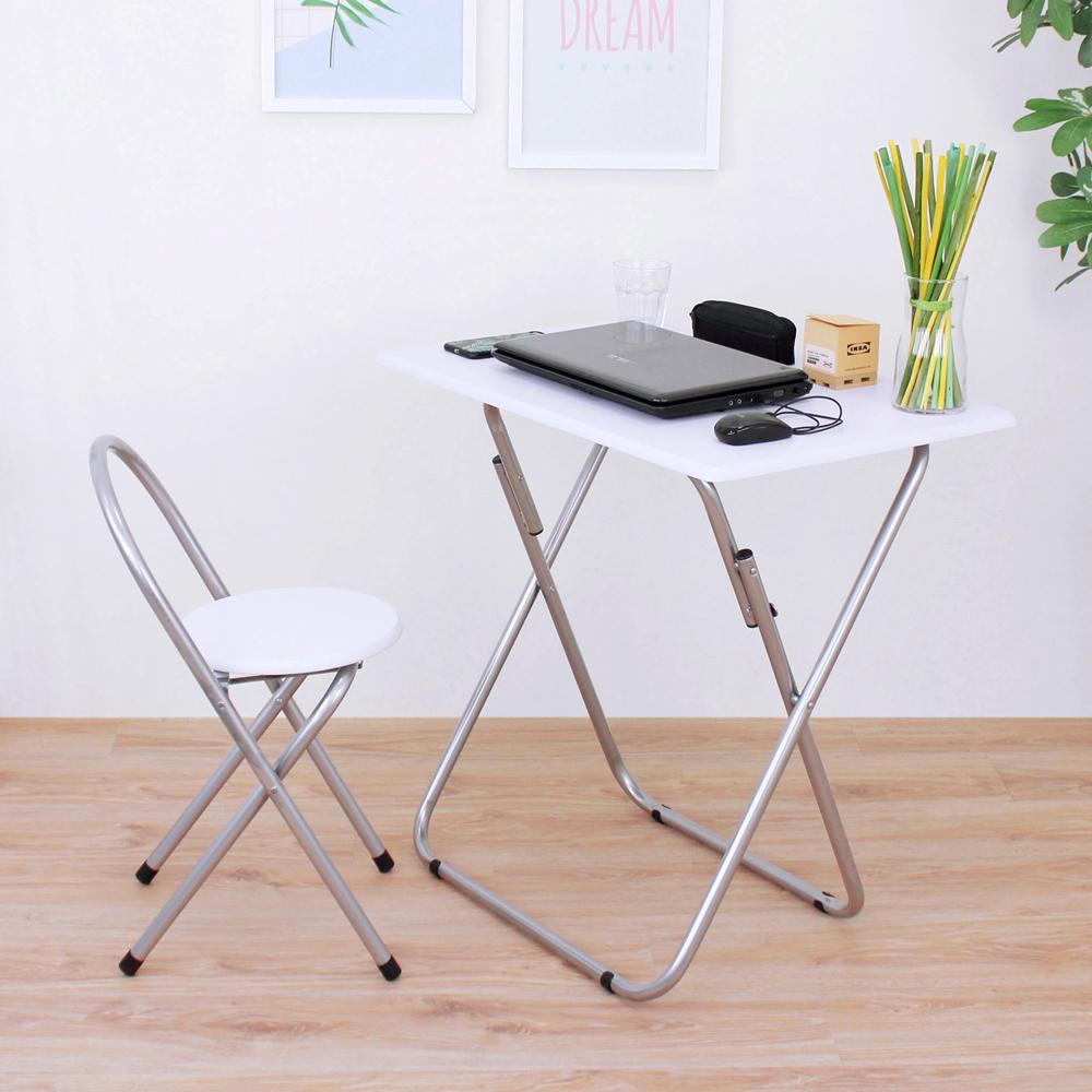 頂堅 [1桌1椅]長方形折疊桌椅組/洽談桌椅組/餐桌椅組(二色) product image 1