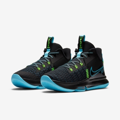 Nike 籃球鞋 Lebron Witness V 男鞋 氣墊 避震 明星款 包覆 運動 球鞋 黑 藍 CQ9381004
