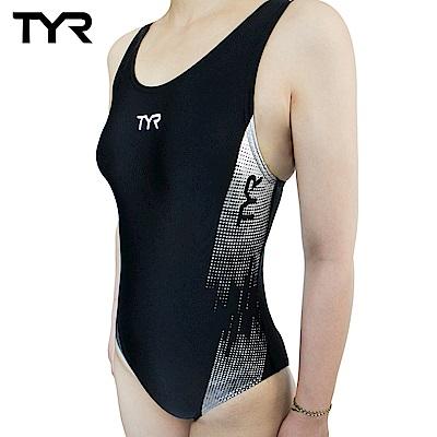 美國TYR 女用連身三角黑色泳裝 Graphis AeroBack