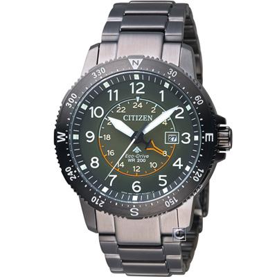 CITIZEN星辰PROMASTER前瞻領向光動能腕錶(BJ7095-56X)-綠