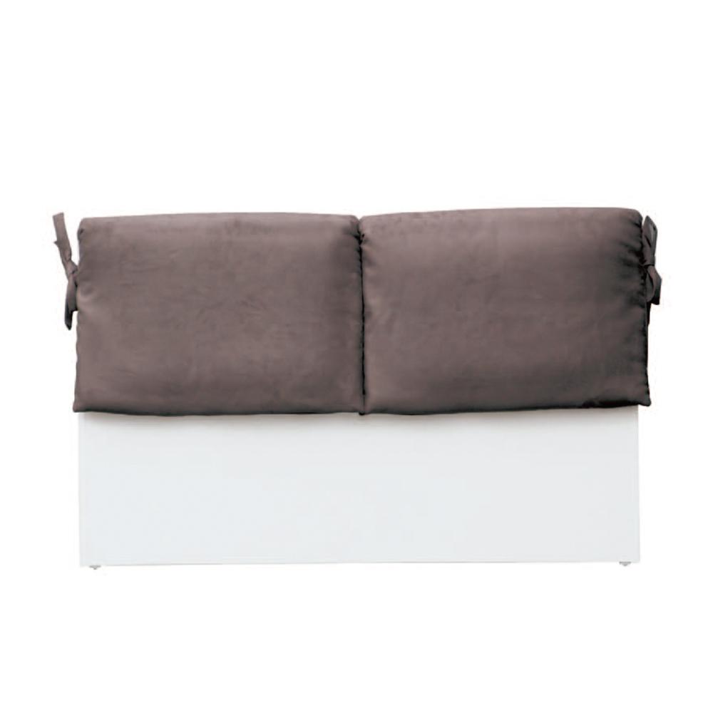 綠活居 亞梭5尺深咖啡雙人床頭片(四色)-154.5x8.5x92cm免組