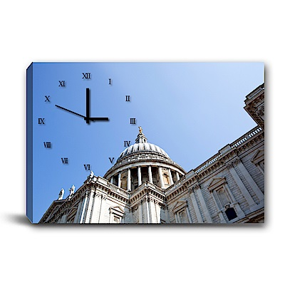 美學365-單聯式橫幅 掛鐘無框畫-尖塔-60x40cm