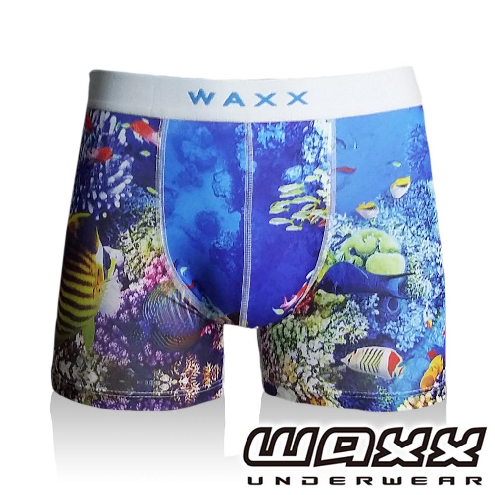 WAXX熱浪系列-海洋奇緣運動快乾型男四角褲